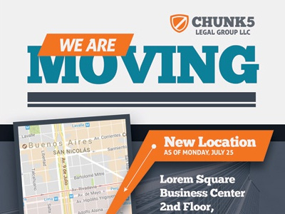 We Are Moving Flyer Templateskinzi Wij   Dribbble throughout Fresh Business Relocation Plan Template