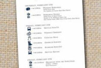 Wedding Itinerary - The Cool Collection | Wedding with Bridal Shower Agenda Template