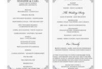 Wedding Program - Google Search   Wedding Program Template intended for Wedding Reception Agenda Template