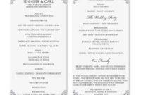 Wedding Program Ideas To Go For   Wedding Program Template regarding Wedding Agenda Template
