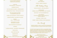 Wedding Program Template - Instant Download - Edit Your intended for Wedding Agenda Templates
