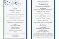 Wedding Program Template Word | Wedding Programs Template inside Fresh Wedding Venue Business Plan Template