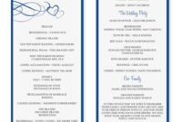 Wedding Program Template Word | Wedding Programs Template with regard to Wedding Ceremony Agenda Template