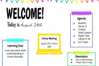 Weekly & Daily Digital Agenda Template | Editable inside Level 10 Meeting Agenda Template