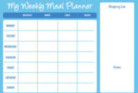 Weekly Planner For Kids Template | Printable Template Calendar for Weekly Agenda Template Notion