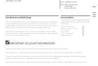 Wells Fargo Statement Of Account Form | Statement Template throughout Fresh Business Account Application Form Template