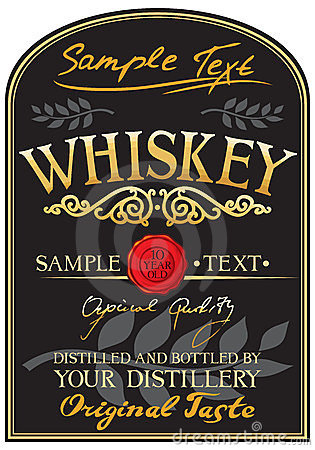 Whiskey Label Stock Photo - Image: 23790050 for Distillery Business Plan Template