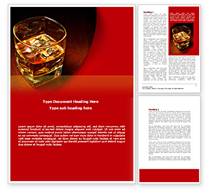 Whiskey Word Templates Design, Download Now in Distillery Business Plan Template