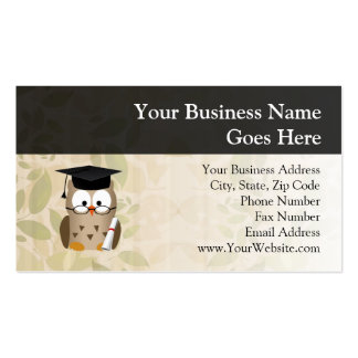 Wise Owl Business Cards & Templates   Zazzle inside Quality Graduate Student Business Cards Template