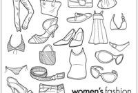 Women Wear Clothing Line Drawing Goods (27733) Free Eps intended for Fresh Business Plan Template For Clothing Line