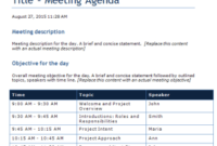 Word Templates | Outlook Templates| User Guide Templates Within 1 On 1 Meeting Agenda Template