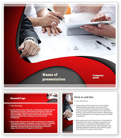 Working Process At Business Meeting Powerpoint Template with New Free Download Powerpoint Templates For Business Presentation