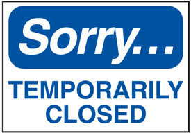 Yummy Bites: Yummy Bites - Sorry We Are Temporarily Closed! pertaining to Business Closed Sign Template