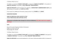 14+ Employment Verification Letter Examples - Pdf, Doc regarding Letter Of Employment Verification Template