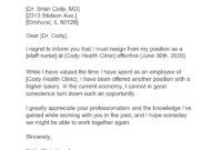 29 Best Nursing Resignation Letters & Samples regarding Appreciative Resignation Letter Template