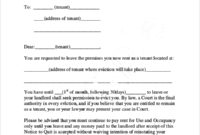 30 Day Eviction Letter - Gotilo in Family Eviction Letter Template