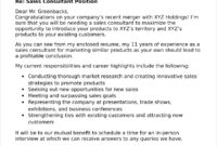 40+ Free Cover Letters For Sales And Marketing Jobs throughout Consultant Cover Letter Template