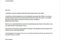 42 Resignation Letter Template In Doc Free Premium with Involuntary Resignation Letter Template
