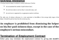 [44+] Domestic Helper Termination Of Employment Contract with Domestic Worker Retrenchment Letter Template