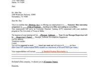 44 Fantastic Offer Letter Templates [Employment / Counter for Employment Counter Offer Letter Template