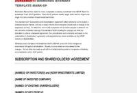 50 Best Shareholder Agreement Templates (& Samples) ᐅ intended for Dividend Letter To Shareholders Template