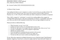 50 Free Debt Validation Letter Samples & Templates ᐅ within Debt Validation Letter Template