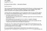 7 Cover Letter Template Download - Sampletemplatess regarding Financial Analyst Cover Letter Template