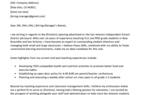 Activity Teacher Cover Letter Samples & Templates Download with regard to Elementary Education Cover Letter Template