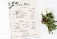 Bachelorette Party Timeline And Details Template Bridal Pertaining To Bachelorette Weekend Itinerary Template