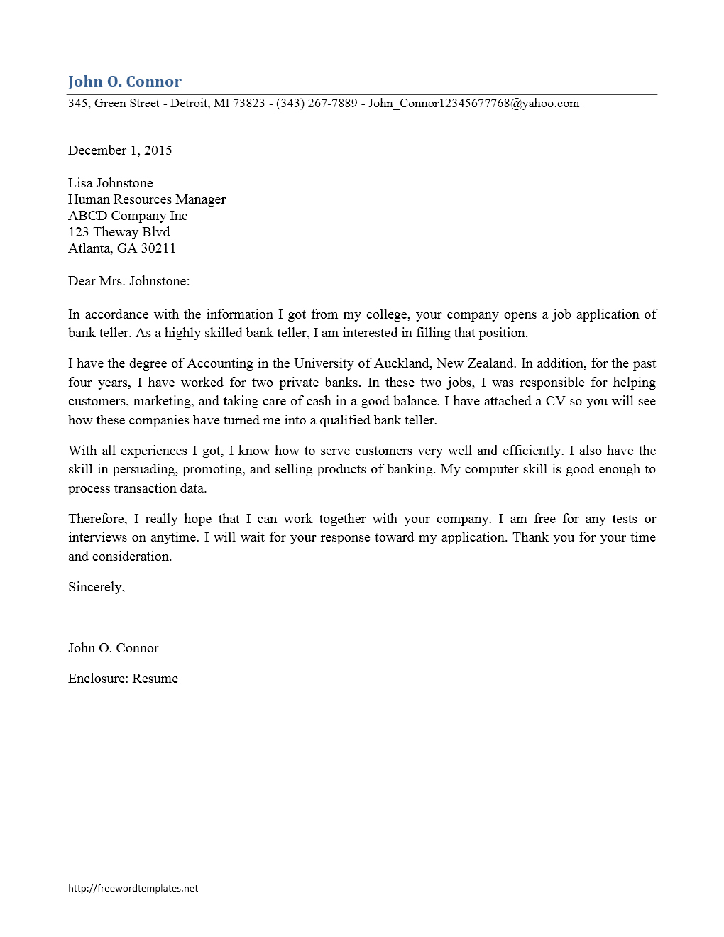 Bank Teller Cover Letter Template No Experience – Kanza In Banking Cover Letter Template