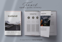 Canva Brochure Template Travel Agency Guide Itinerary regarding Travel Agent Itinerary Template