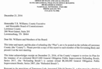 ? County Plans To Refund Bonds; Save Taxpayers Over with Bond Claim Letter Template