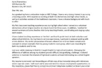 Cover Letter For Adjunct Professor Position No Teaching with regard to Cover Letter Template Teaching Position