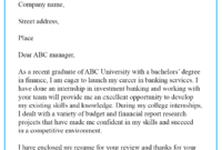 Cover Letter Template For Bank Job – 100+ Cover Letter Samples In Banking Cover Letter Template