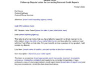 Credit And Debt Dispute Letters Appeals Letter Format for Credit Report Dispute Letter Template