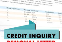 Credit Inquiry Removal Letter Sample (Updated For 2020 With Regard To Credit Inquiry Removal Letter Template