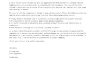 Customer Service Representative Cover Letter Sample For intended for Customer Service Representative Cover Letter Template