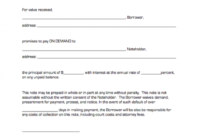 Demand Promissory Note Template - Free Printable Documents inside Demand Letter Promissory Note Template