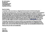 Dental Assistant Cover Letter   Dental Assistant Cover with regard to Dental Assistant Cover Letter Template