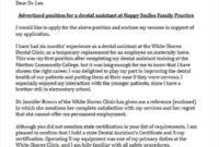 Dental Assistant Cover Letter Sample   Myjobsearch with Dental Assistant Cover Letter Template