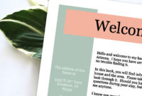 Digital Download Of A Template For A Vacation Rental with regard to Apartment Welcome Letter Template