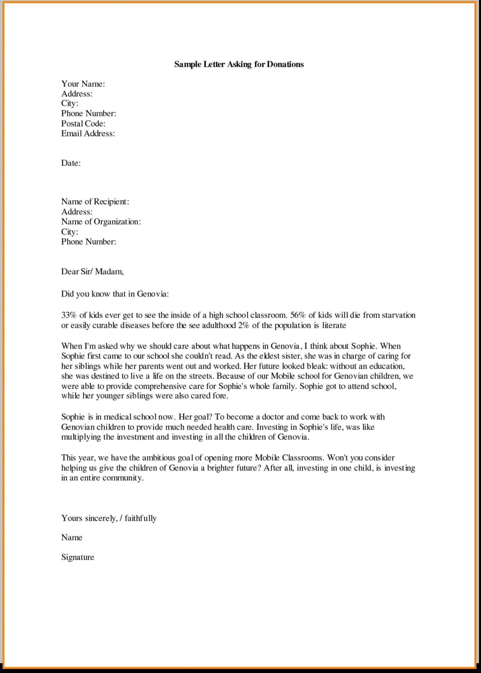 Donation Letter Samples For School In Corporate Donation Letter Template