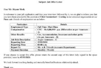 Download Job Offer Letter Excel Template – Exceldatapro With Regard To Employment Offer Letter Template