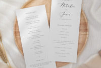Elegant Wedding Ceremony Program Template Printable intended for Wedding Ceremony Itinerary Template