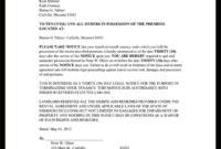 Eviction Notice Missouri - Mo Eviction Notice Form (With regarding Failed Background Check Letter Template