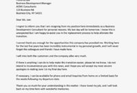 Explore Our Example Of Simple Resignation Letter Due To intended for Friendly Resignation Letter Template