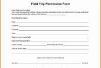 Field Trip Permission Slip Form Beautiful Download Field with Field Trip Permission Letter Template