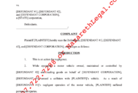 Fillable Online Florida Form Complaint Negligence Motor with regard to Medical Negligence Complaint Letter Template