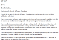 Finance Consultant Cover Letter Example – Icover.uk with Consultant Cover Letter Template