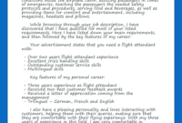 Flight Attendant Cover Letter | Flight Attendant, Flight in Airline Pilot Cover Letter Template